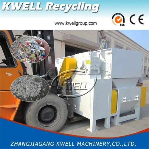 Waste HDPE PVC pipe shredder granulator combined machine Kwell