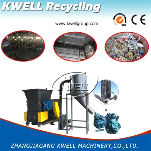 Plastic shredder with crusher two in one recycling machine Kwell