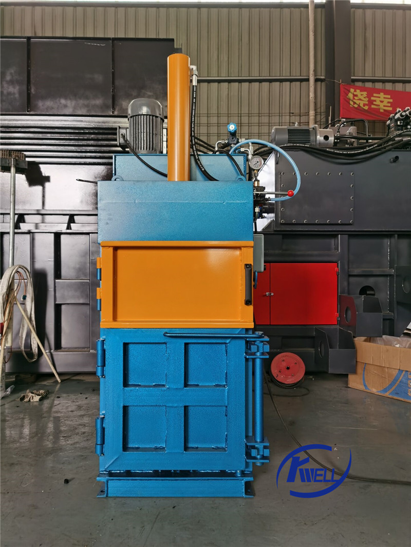 Testing news-6ton Vertical hydraulic press compactor for vessel