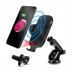 Automatic Infrared Sensor C9-H Fast Wireless Car Charger Mount Phone Holder For iPhone X XS Max