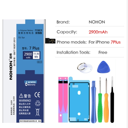 NOHON Battery For Apple iPhone 7 7Plus iPhone7 7G 7Plus Replacement Bateria High Capacity Lithium Polymer Batteries