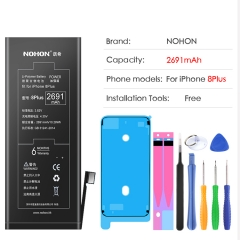 NOHON Battery For Apple iPhone 8 Plus iPhone8 Replacment Lithium Polymer Bateria