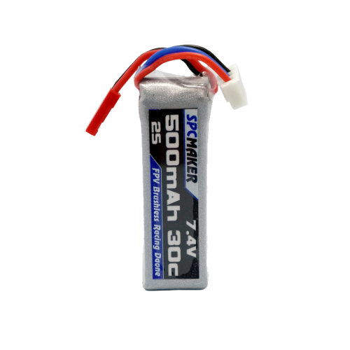 SPCMAKER 90S 500mah 7.4v 30c Lithium Battery Brushless Frame Battery