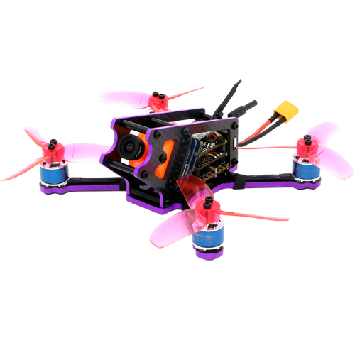 SPCMAKER S125 125MM FPV Racing Drone PNP Version RunCam Split Mini Camera Omnibus F4 flight controller 20A Mini 4 in 1 BLheli_s ESC (2-4S LiPo)