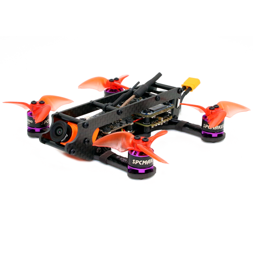 SPCMAKER K2 110MM Brushless FPV Racing Drone PNP BNF Version Omnibus F4 flight controller 20A Mini 4 in 1 BLheli_s ESC (2-4S LiPo) RunCam Split Mini 2