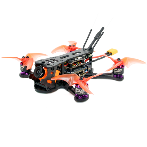 SPCMAKER K25 110MM Brushless FPV Racing Drone  Omnibus F4 flight controller 20A Mini 4 in 1 BLheli_s ESC (2-4S LiPo) RunCam Split Mini 2