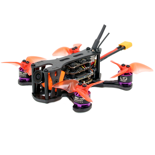 SPCMAKER K1 95MM Brushless FPV Racing Drone PNP BNF Version Omnibus F4 flight controller 20A Mini 4 in 1 BLheli_s ESC (2-4S LiPo) RunCam Split Mini 2