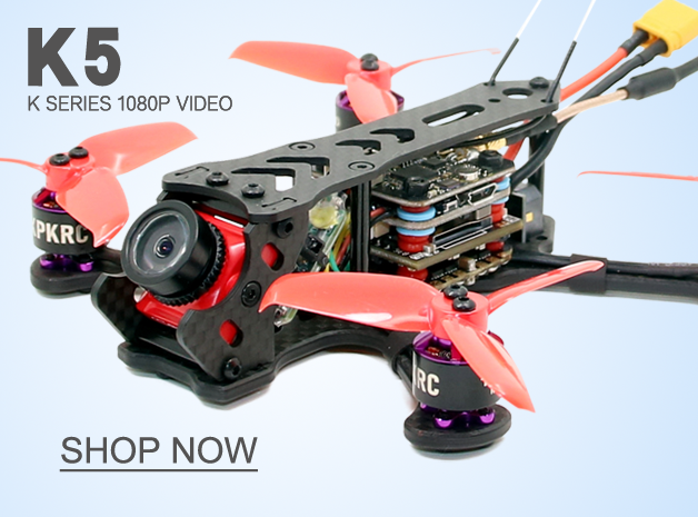 SPCMAKER K5 120MM Brushless FPV Racing Drone PNP BNF Version Omnibus F4 flight controller 20A Mini 4 in 1 BLheli_s ESC (2-4S LiPo) RunCam Split Mini 2