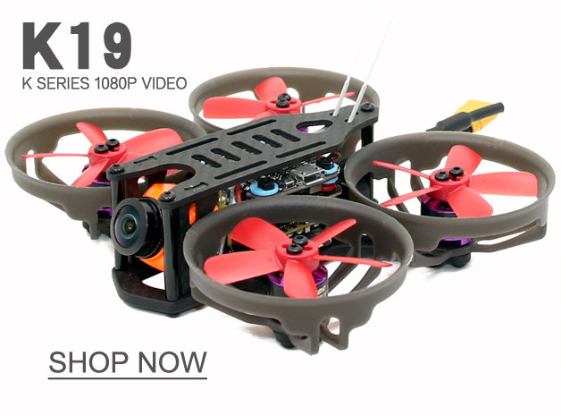 SPCMAKER K19 90MM Brushless FPV Racing Drone Omnibus F4 flight controller 20A Mini 4 in 1 BLheli_s ESC (2-4S LiPo) RunCam Split Mini 2