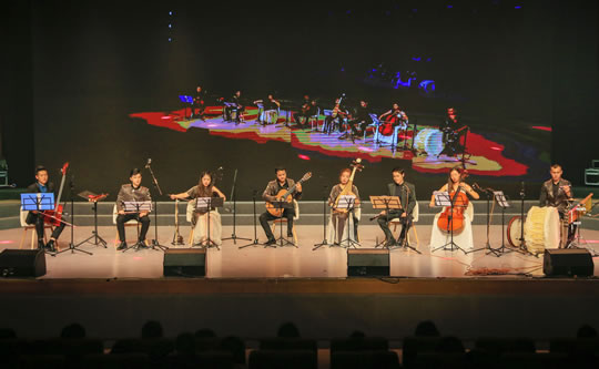 Ensemble Étoile Performing with AWEDA Stands