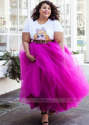 Purple Plus SizeTulle Skirt Bridesmaid Skirt