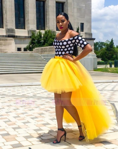 Yellow Tulle Maxi Skirt Bridal Party Skirt