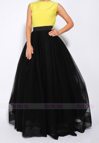 Black Short Train Skirt Bridal Skirt
