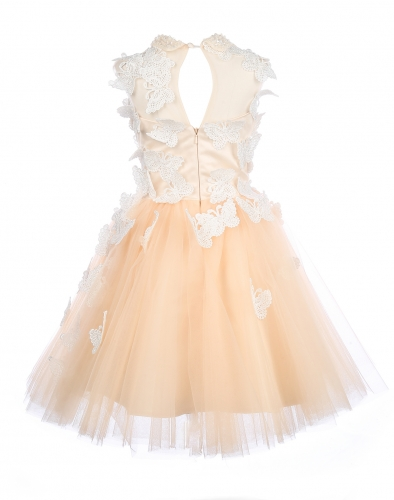 Champagne Tulle Flower Girl Dress