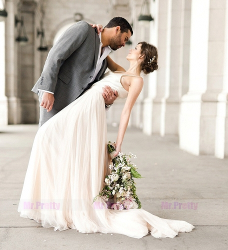 Light Champagne Full Length Skirt Bridal Skirt