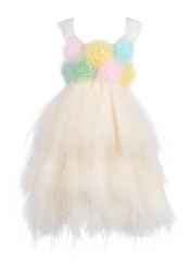 ChampagneTulle Flower Girl Dress