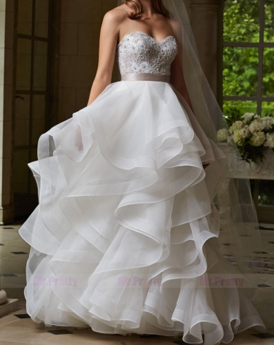 Ivory/White Organza Bridal Skirt