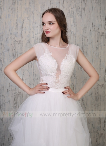 Ivory Lace Top Women Beaded Wedding Top