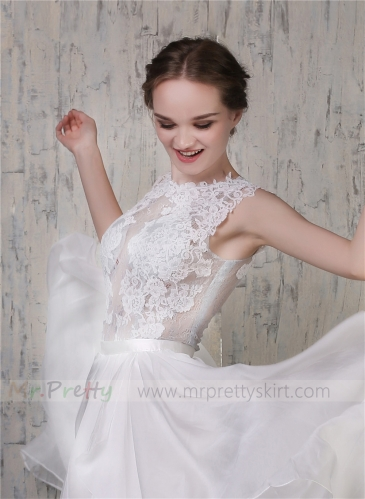 Ivory Lace Tulle Women Wedding Top