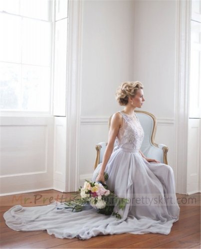 Lavender Chiffon Skirt Bridal Skirt Wedding Skirt
