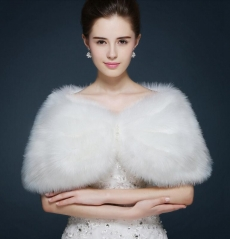 Ivory Feather Wedding Top Hairy Shawl Fur Top