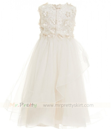Lace Champagne Flower Girl Dress