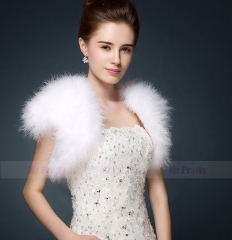 Iovry Champagne Fur Wedding Top Hairy Shawl