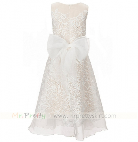 Light Champagne Organza Junior Bridesmaid Dress