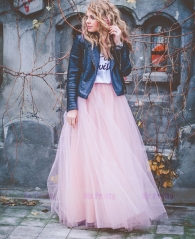 Pink Tulle Bridal Wedding Skirt Party Skirt