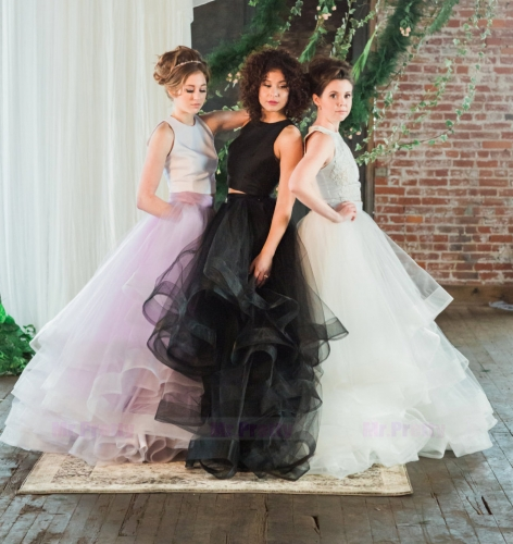 Organza Full Length Wedding Skirt Party Skirt