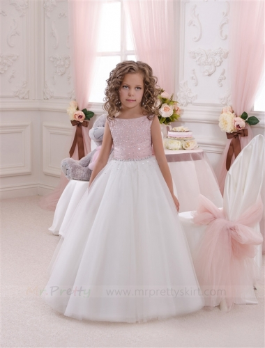Ivory Tulle Flower Girl Dress Pageant Dress
