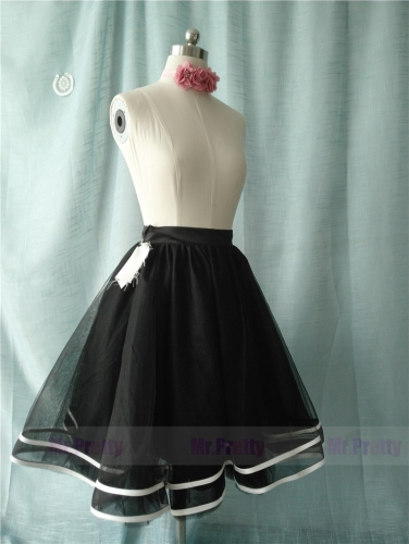 Black/ Pink Tutu Skirt Party Skirt Short Skirt