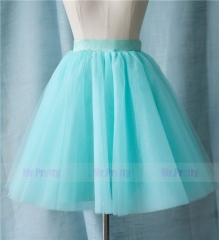Mint Tulle  Short  Skirt Party Bridesmaid Skirts/Kids Skirt