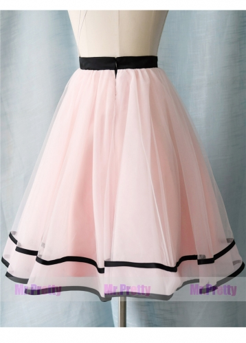 Light Pink Short Tulle Skirt Party Bridesmaid Skirts/Kids Skirt
