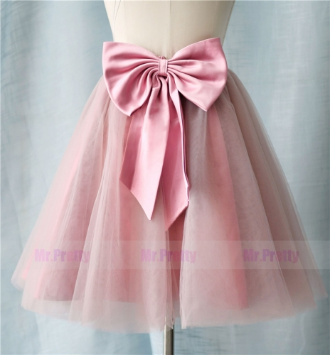 Mauve Short  Skirt Party Bridesmaid Skirts/Kids Skirt