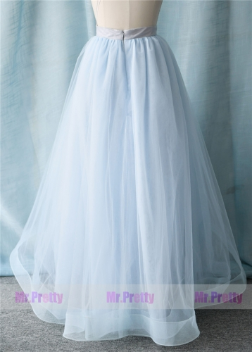 Light blue High Low Tulle Skirt Party Bridesmaid Skirts