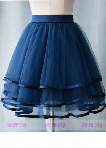 Navy Blue Short Tulle Skirt Party Bridesmaid Skirts/Kid Skirt