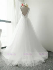 Ivory Color Long Train Skirt Bridal Skirts