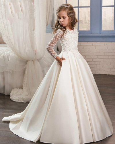 Ivory/White Kids Communion Dress Girls Party Dress