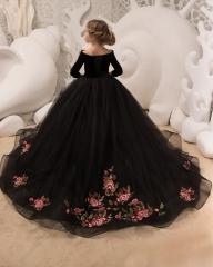 b3e903871c Black Tulle Flower Girl Dress Girls Party Dress
