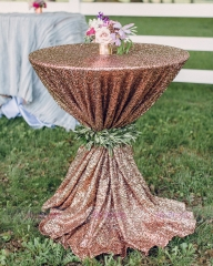 Champagne Sequin Wedding Table Cover Tablecloth