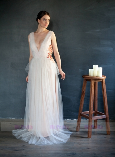 Ivory Tulle Prom Dress