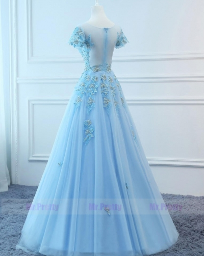 Light Blue Prom Dress Evening Party Dresses