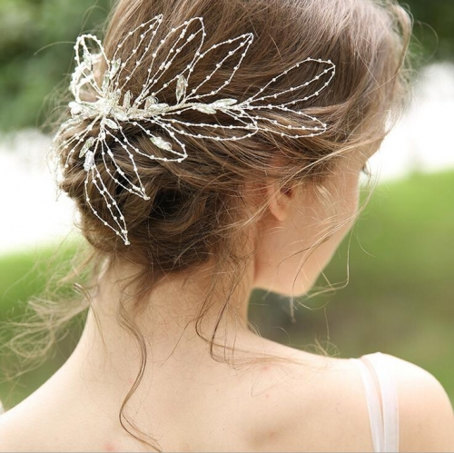 Silver Beads Bridal Hairband Bridal Headband