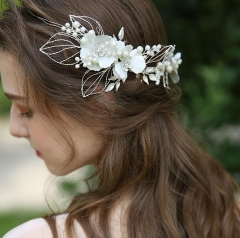 Ivory Beads Bridal Hairband Bridal Headband