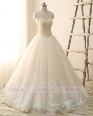 Light Champagne Lace Wedding Gown