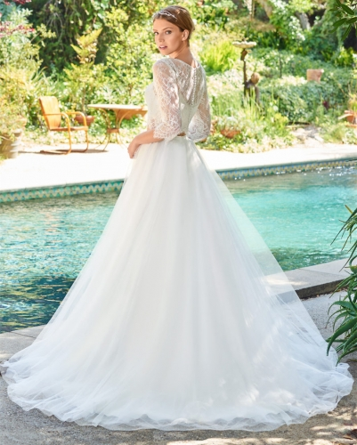 2 Pieces Ivory Bridal Gown Wedding Dress