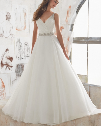 Ivory  Beaded Bridal Gown Wedding Dress