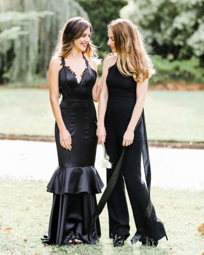Black Prom Dress Evening Party Dresses