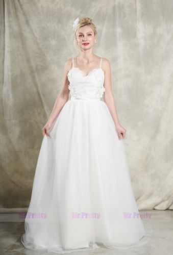 Ivory LaceTulle Wedding Gown Bridal Gown